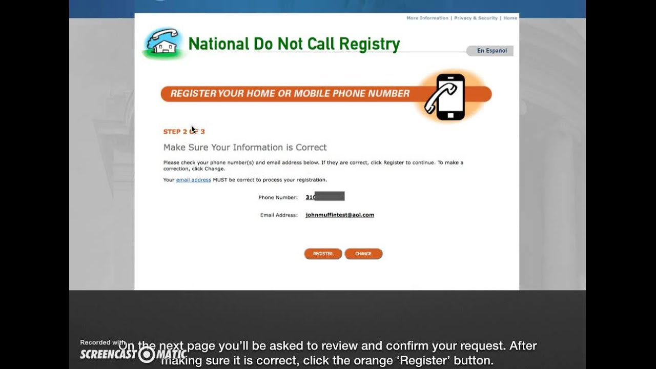 How to Add Your Number to DoNotCall gov
