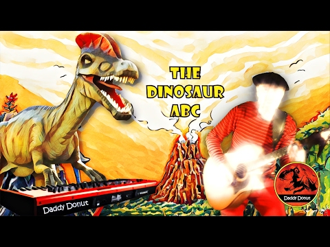 The Dinosaur ABC  Daddy Donut  Dino  for kids  Alphabet music video for children