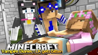 Minecraft The Vampire Diaries : LITTLE KELLY GETS BITTEN BY A VAMPIRE!
