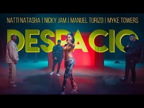 Natti Natasha – Despacio (Letra) ft. Nicky Jam, Manuel Turizo, Myke Towers