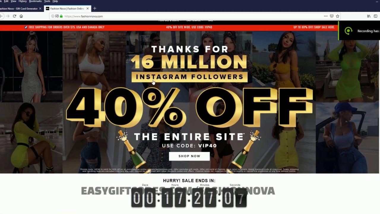 Fashion Nova Discount Code 40 80 Off Discount Youtube