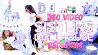 360 Interactive Video: Sisters Dollhouse Sophie & Chloe Bedroom Tour - VR