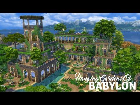 Sims 4 Speed Build | Hanging Gardens Of Babylon | Part 2 - YouTube