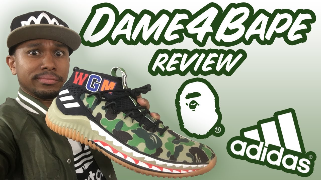 quality design 64d66 b74fe ADIDAS BAPE DAME 4 UNBOXING + REVIEW