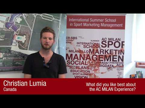 International Summer School in Sport Marketing Management - Participant - Christian Lumia