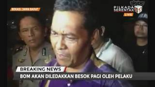 Bom di Bekasi Rencananya Diledakkan Besok Pagi