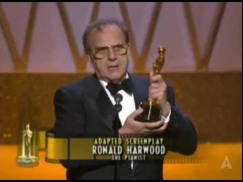 Ronald Harwood Winning Adapted Screenplay For The Pianist