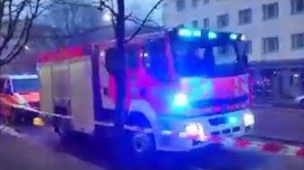 Water damage in Helsinki Helsinki fire Department on scene Helsinginkadun vesivahinko