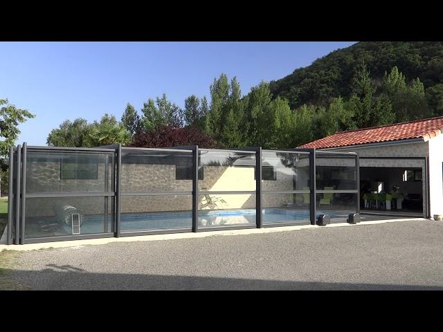 vid├йo abri piscine/terrasse t├йlescopique DCLS