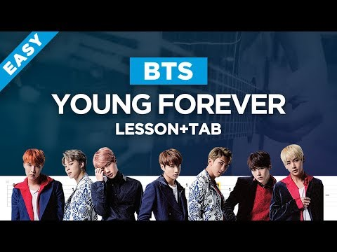 🎸 BTS YOUNG FOREVER unplugged guitar lesson, chords and tab