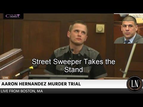 Aaron Hernandez Trial Day 4 Part 3 (Street Sweeper Testifies - No jury) 03/06/17