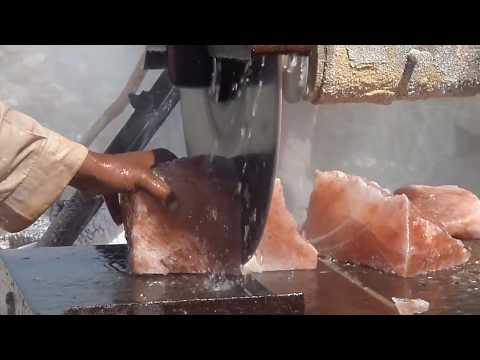 Himalayan Salt Rocks Cutting process - Salt Mining -miners'life