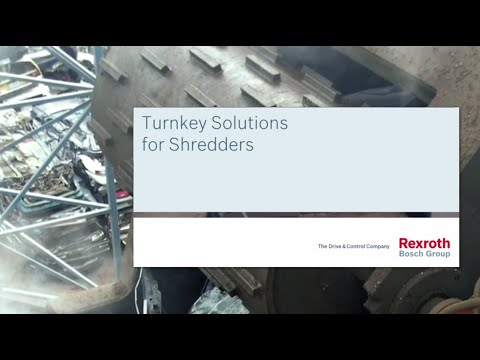 Turnkey drive solutions for recycling shredders