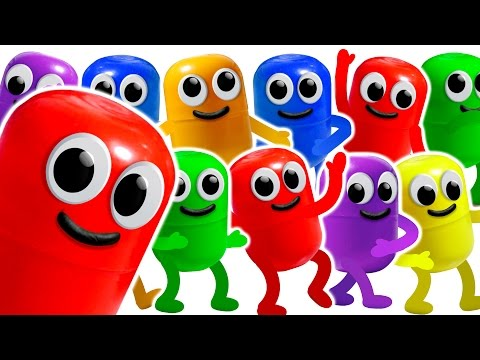 ЖИВАЯ КАПСУЛА. 100 КИНДЕР СЮРПРИЗОВ. Учим цвета. Learn Colors. Kinder Surprise.