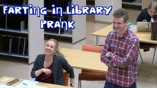 farting in library prank in finland   piereskely kirjastossa