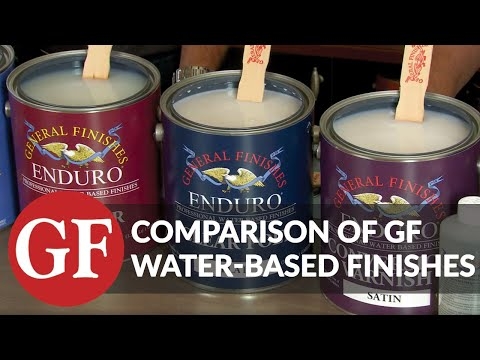 Comparison of General Finishes Water-Based Topcoats