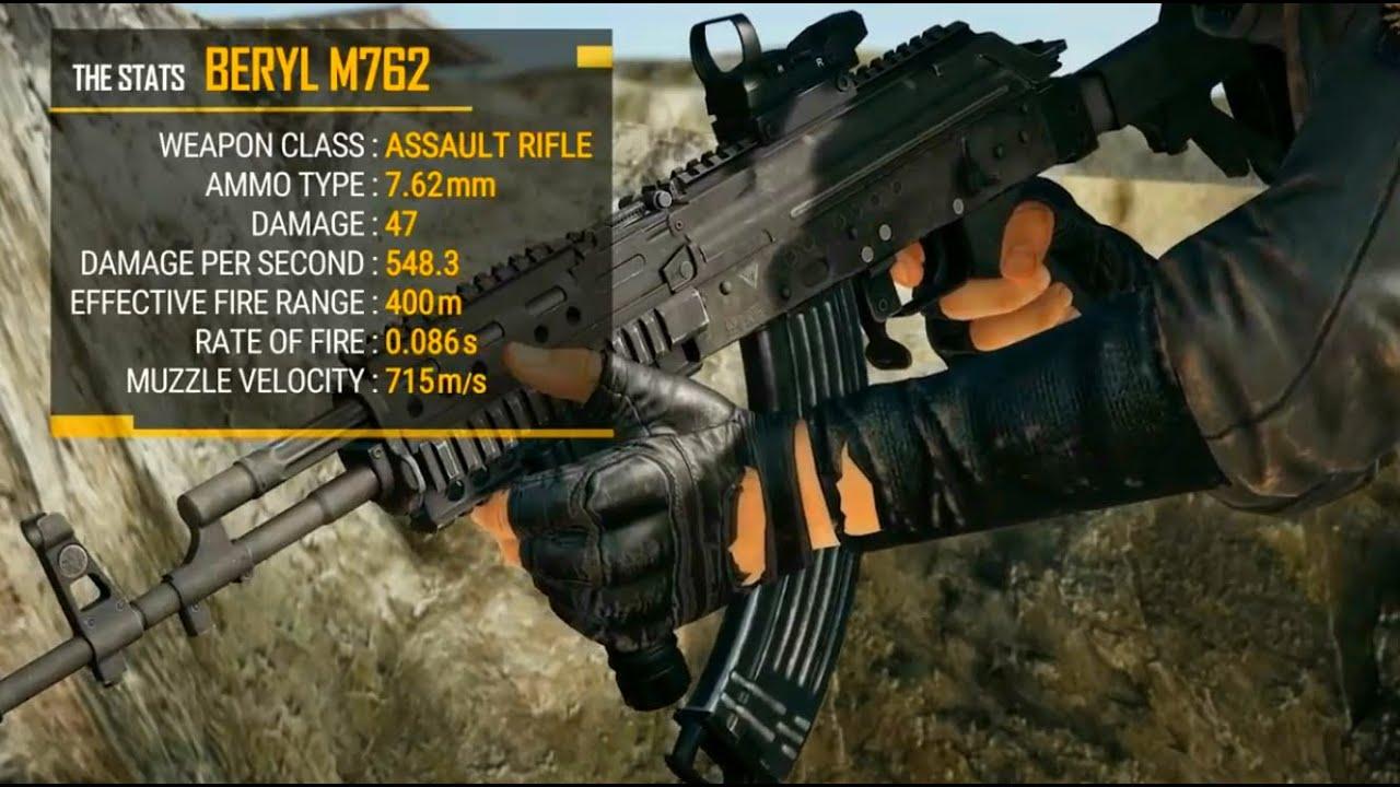 M762 Pubg: New Weapon Beryl M762 (Assault Rifle)