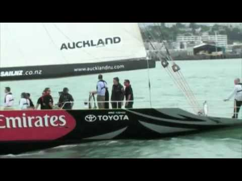 Prince William sails on the Waitemata Harbour