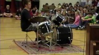 jake jones Waking the demon drum cover talent show
