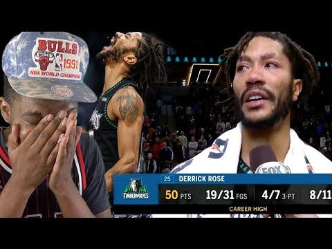 IM ABOUT TO CRY! DERRICK ROSE CAREER HIGH 50 POINT GAME!
