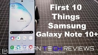 Galaxy Note 10 / Note 10 Plus First 10 + Things To Do! | Tips & Tricks