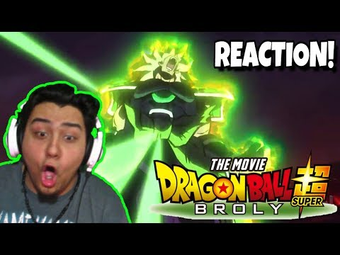 PURE HYPE!!! | DRAGON BALL SUPER: BROLY MOVIE TRAILER [LIVE REACTION] - Comic Con 2018