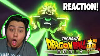 PURE HYPE!!! | DRAGON BALL SUPER: BROLY MOVIE TRAILER [LIVE REACTION] - Comic Con 2018