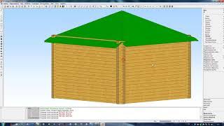 Создание вальмовой крыши в программе К3 Коттедж