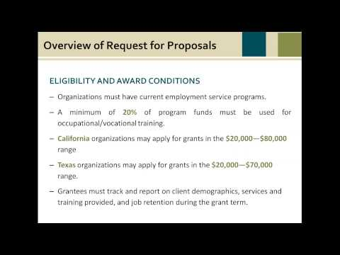 Webinar: 2016 Grant Bidders Conference for the Employment and Training Collaborative