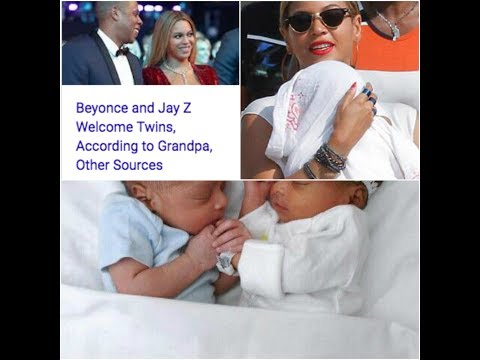 Download Youtube: Beyoncé and Jay Z welcome twin babies, a boy and a girl! FIRST PHOTOS!