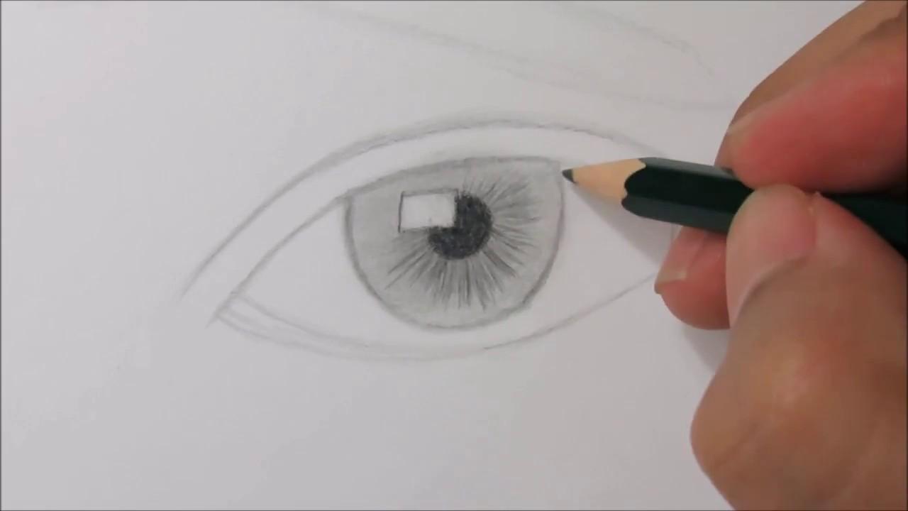 تعليم الرسم كيفية رسم العين و الرموش والحواجب للمرأة بطريقة سهلة