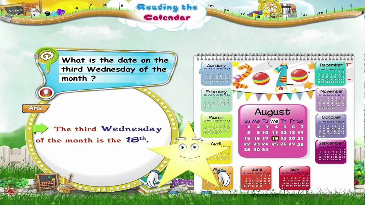 Learn Grade 3 - Maths - Reading the Calendar - YouTube [ 720 x 1280 Pixel ]