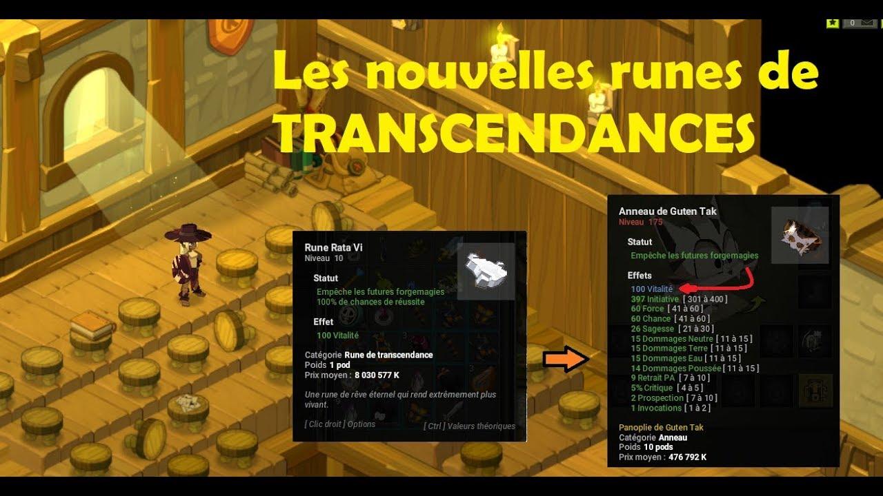 Dofus Forgemagie Explication Des Nouvelles Runes De Transcendances Test