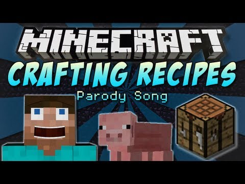 """♪ """"Crafting Recipes"""" A Minecraft Parody Song of One Direction's """"Little Things"""" ♪"""