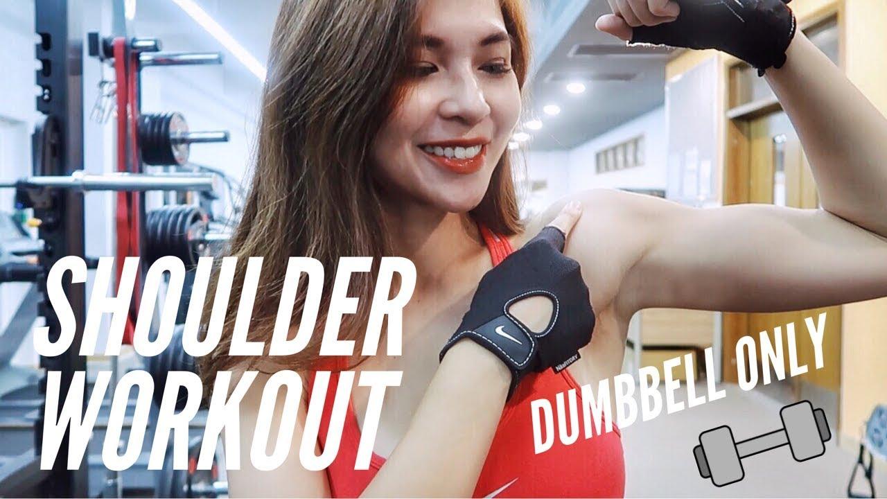 TOP 10 Bài Tập Vai Với Tạ Đôi | Dumbbell Only Workout | Wanda Tran