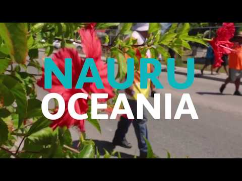 The Queen's Baton visits Nauru