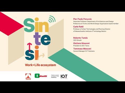 Olivetti e Tecno presentano Sintesi, l'Ecosistema Work + Life | Ivrea, Casa Blu Olivetti, 13/05/2021