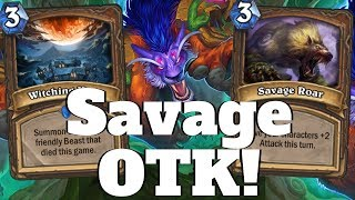 Absolutely Savage OTK! Witching Hour Druid of the Claw Combo! [Hearthstone Game of the Day]