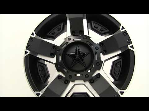 XD Series Rockstar II XD811 Black and Machined Wheels Rims 17x8