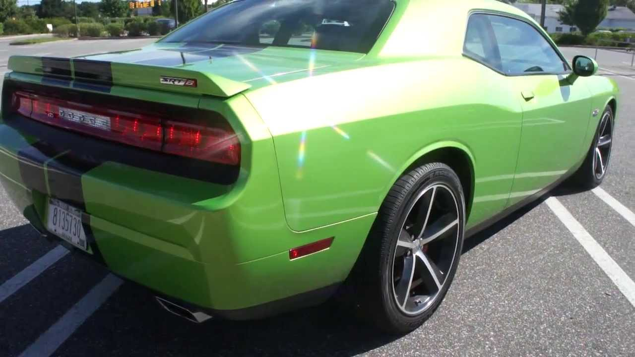 2011 dodge challenger srt8 for sale green with envy 6 speed loaded 2 300 miles navigation moon. Black Bedroom Furniture Sets. Home Design Ideas