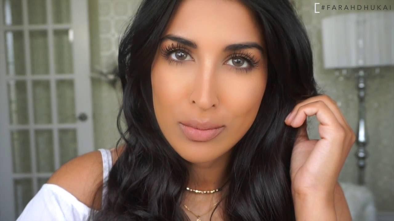 Photo of Farah Dhukai, co-owner of Farsali, simple makeup look