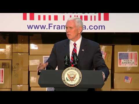 Vice President Mike Pence touts healthcare reform plans in Springdale