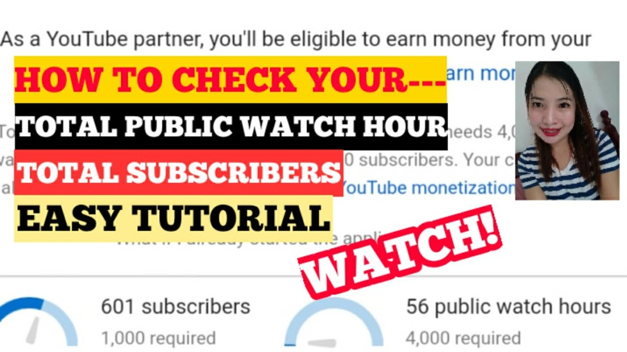 HOW TO CHECK TOTAL PUBLIC WATCH HOUR AND SUBSCRIBERS/ EASY TUTORIAL