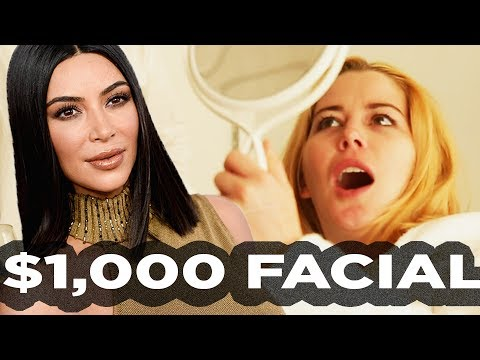 People Try Kim Kardashian's Facial