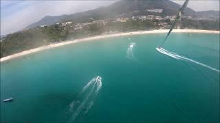 Parasailing In Kata beach, Phuket, Thailand