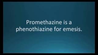How to pronounce promethazine (Phenergan) (Memorizing Pharmacology Flashcard)