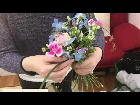 NFDの一級ほぐれた装飾的花束〈フラワーデザイナーになる近道〉no303