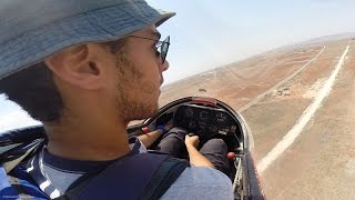 K13 Glider Launch Failure/Cable Break - 300ft Thermal - GoPro Cockpit View - (glider emergency)