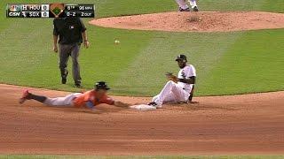 HOU@CWS: Correa records his first career stolen base