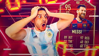 MESSI IF 95 ROJOOOOOOO !!!! *RECOMPENSAS TOP 100*